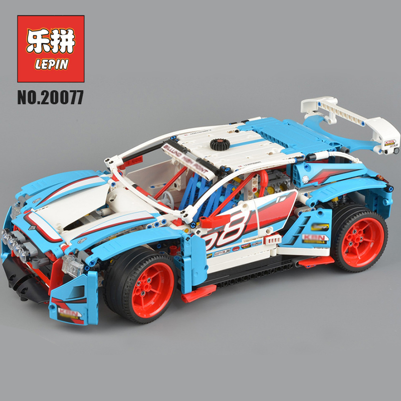 Lepin Technic Series 20077 Super Racing Car Building Blocks Bricks the Rally Car Set 42077 Educational Funny Children Toys Gifts lepin 21010 914pcs technic super racing car series the red truck car styling set educational building blocks bricks toys 75913