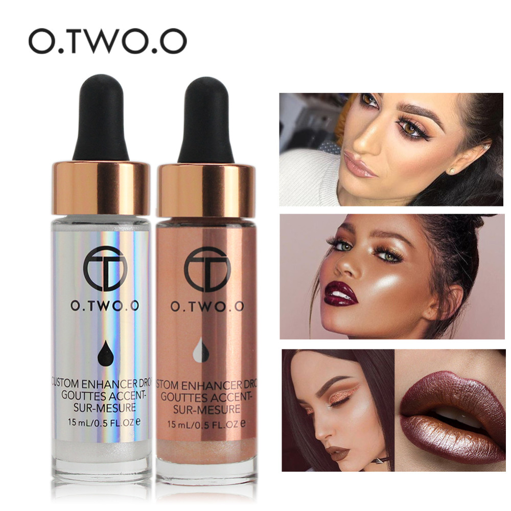 O. ZWEI. O Flüssige Highlighter Beleuchtung Bronzing Tropfen Make-Up Ultra-konzentriert Highlighter Creme Concealer Schimmer Gesicht Glow