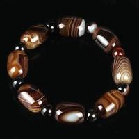 Gros naturel Sardonyx pierre baril Perle Bracelet hommes Passepartout Perles de transport Bracelet Cadeau