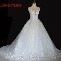 2018 spring bride tube top slim long trailing bandage wedding dress for bride gown Appliques Vintage plus size