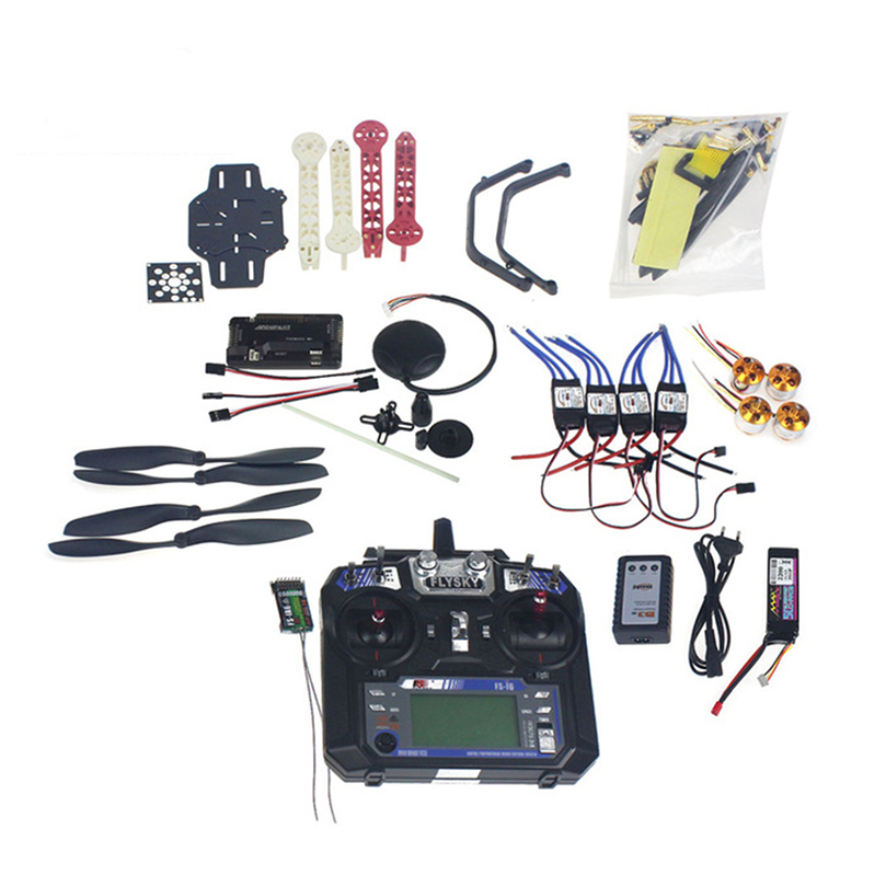 Full Set RC Drone Quadrocopter 4-axis F330 MultiCopter Frame Kit 6M GPS APM2.8 Flight Control Flysky FS-i6 Transmitter ReceiverFull Set RC Drone Quadrocopter 4-axis F330 MultiCopter Frame Kit 6M GPS APM2.8 Flight Control Flysky FS-i6 Transmitter Receiver
