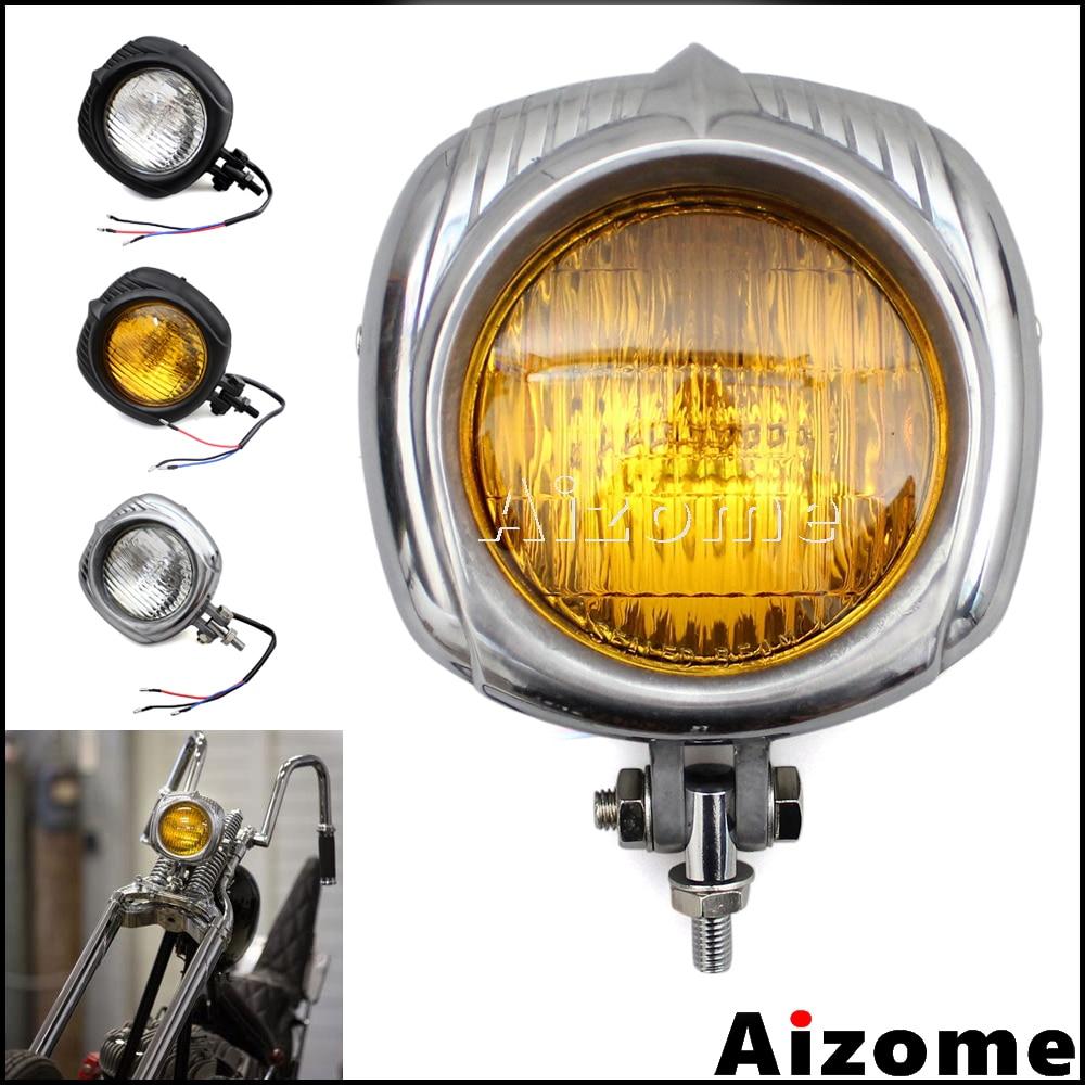 Motorcycle Sealed Beam Electroline Vintage Headlight For Harley Dyna Sportster Custom Headlamp Bobber Chopper Retro Headlight