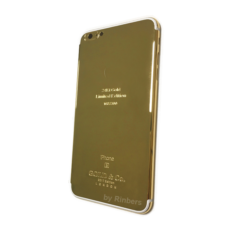 For font b iPhone b font 6S PLUS 24K 24KT 24CT GOLD imited Edition Metal Back