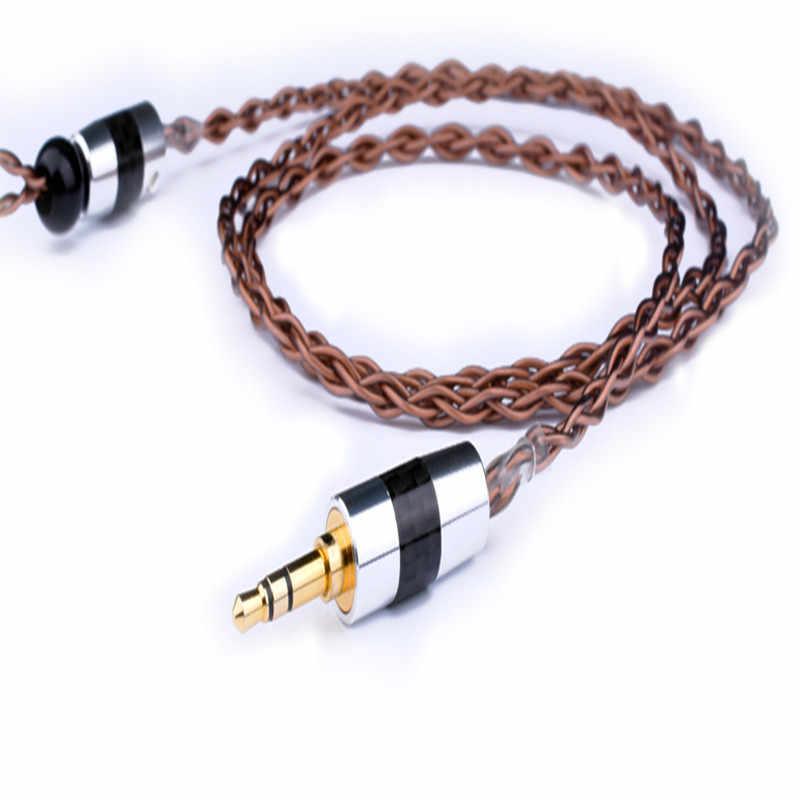 3.5mm gorączka Audio wymiana kabla dla Shure MMCX SE215 SE535 SE846 kabel audio do ie80 ie8I słuchawki Audio AUX kabel