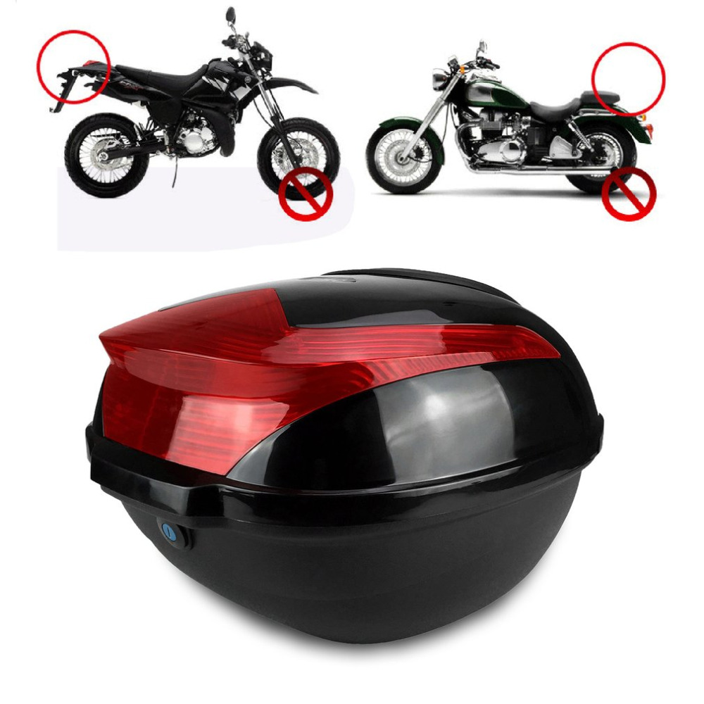 Large Capacity Shock-proof Motorcycle Tail Box Universal Electric Bicycle Trunk Top Case With Safety Lock Buckle