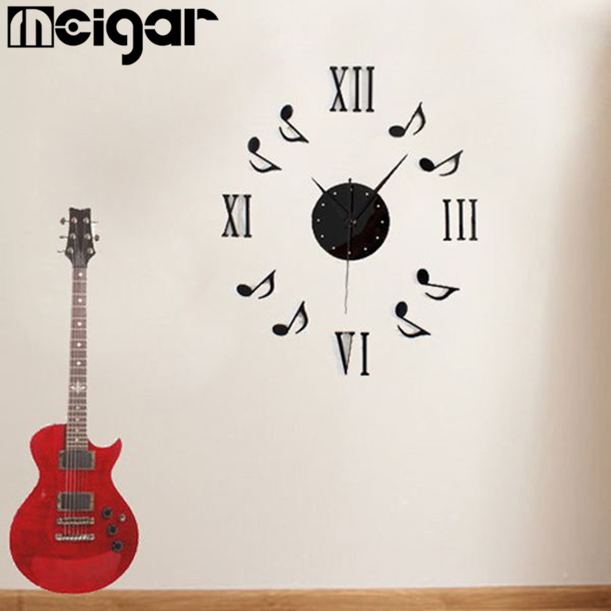 popular wall sticker musical note buy cheap wall sticker musical modern 3d acrylic musical notes clock wall stickers roman numerals wallpaper stickers diy art wall decals