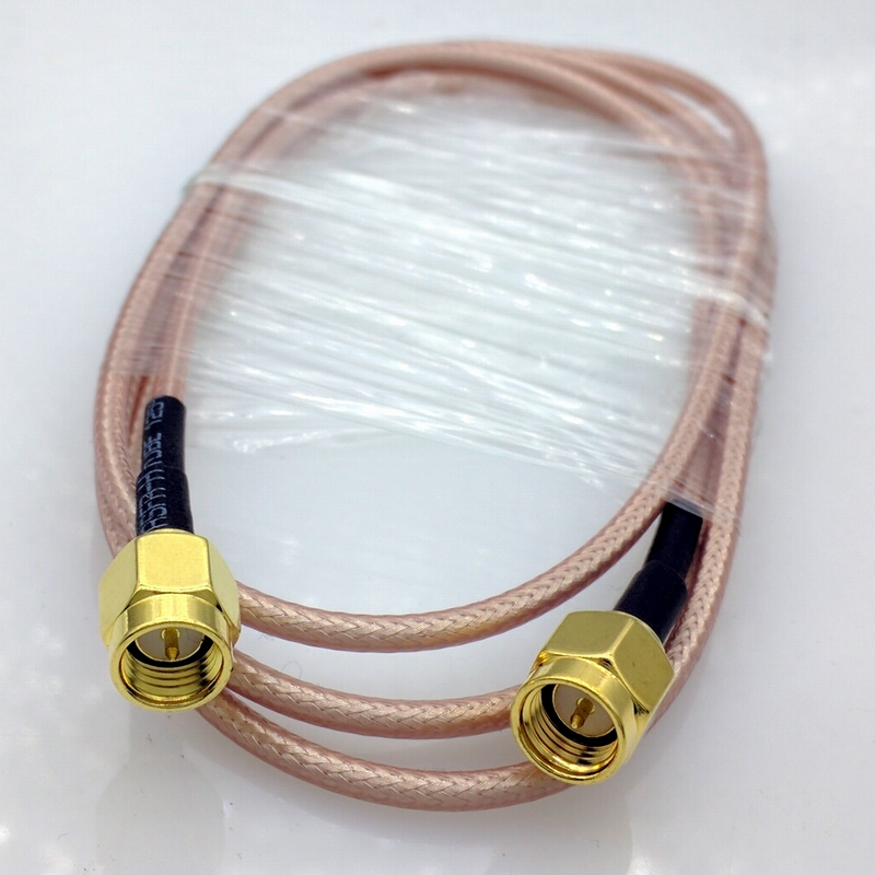 1 meter RG316 SMA RF Coaxial Cable SMA male to SMA Male cable SMA Male Connector Switch smokie smokie pass it around