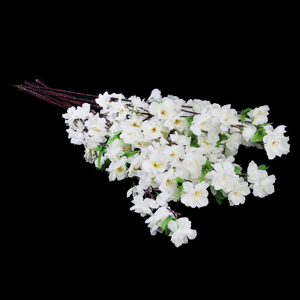 Lantana Kopen Us 10 83 31 Off 10pcs Artificial Peach Blossom Flower Bouquet With 3 Fork Stems For Home Office Decoration White In Artificial Dried Flowers