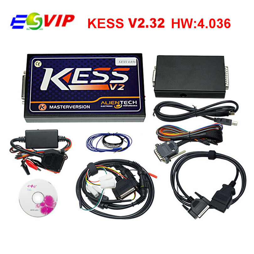 Newest No Token Limited KESS V2.32 Manager Tuning Kit Kess V2 V4.036 ECU Chip Tuning Universal Car ECU Programmer Kess V2.32 unlimited tokens ktag k tag v7 020 kess real eu v2 v5 017 sw v2 23 master ecu chip tuning tool kess 5 017 red pcb online