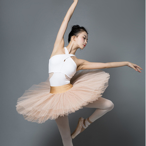 Image 4 - ballet women leotard gymnastic leotards white halter dance leotard adult yoga sports bodysuit ladies dancewear swimsuit women