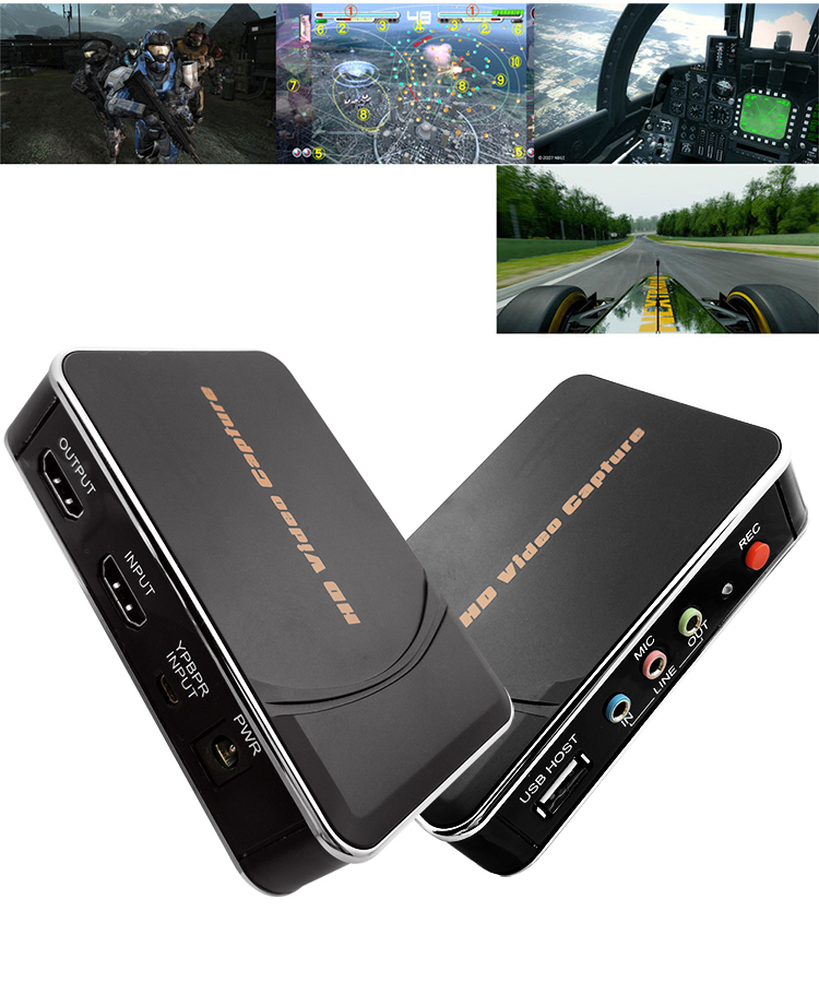 Ezcap280 HDMI YPbPr Game Video Capture Recorder Box For Xbox PS3 PS4 TV STB Box Medical Care DVD Camcorder Camera To USB U Disk