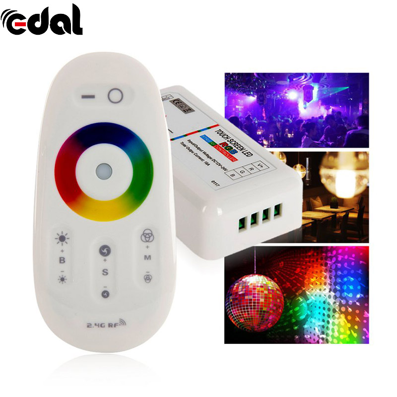 EDAL DC 15A RGB Led Controller 2.4G Touch Screen RF Remote Control For Led strip/bulb keyshare dual bulb night vision led light kit for remote control drones