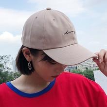 16aefda7 Fashion Woman Baseball Caps Hat Korean Ulzzang Harajuku Simple Embroidery  Streetwear Hip Hop Snapback Cap Female · 6 Colors Available
