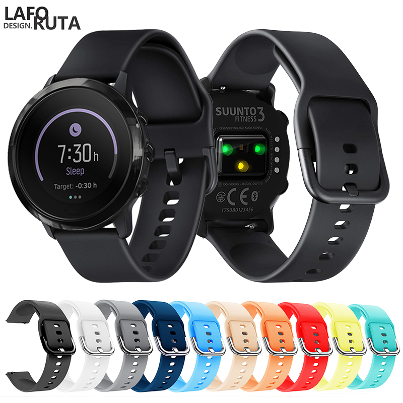 Laforuta Sport Silicone Watch Band For Suunto 3 Fitnes Samsung Galaxy Watch Active Strap 20mm Quick Release Bracelet 2019 Newest