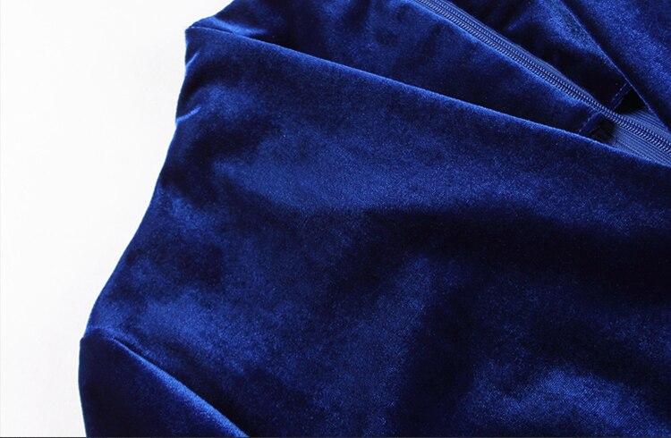V Cou longueur Large Poches Wreeima Bleu Velours Barboteuse Printemps Cheville Salopette Bureau Foncé Dames Jambe 2019 Marine Femmes nH8gE