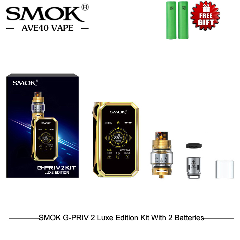 SMOK G PRIV 2 Luxe Edition Box Mod Kit Electronic Cigarettes 8ml TFV12 Prince Tank Big