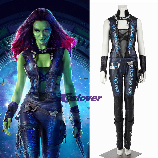 Guardians Of The Galaxy Gamora Sexy Anime Dress Cosplay Clothing