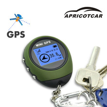 Mini GPS Tracking Device Travel Portable Keychain Locator Pathfinding Vehicle Outdoor Practical Travel Electronic Compass