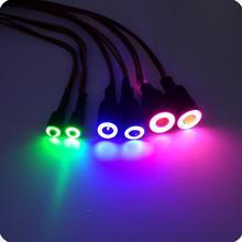 Envío libre rc coche faro redondo lámparas de luz fish eyes angel eyes para diy rc modelo de coche