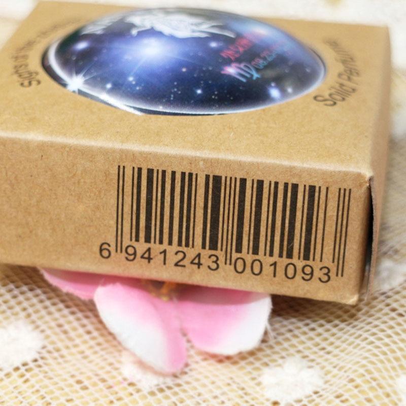 Hot NANI 12  Zodiac Sign Compact Scented Body Balm Skin Care Cream Flower Perfume Essential Wyt77