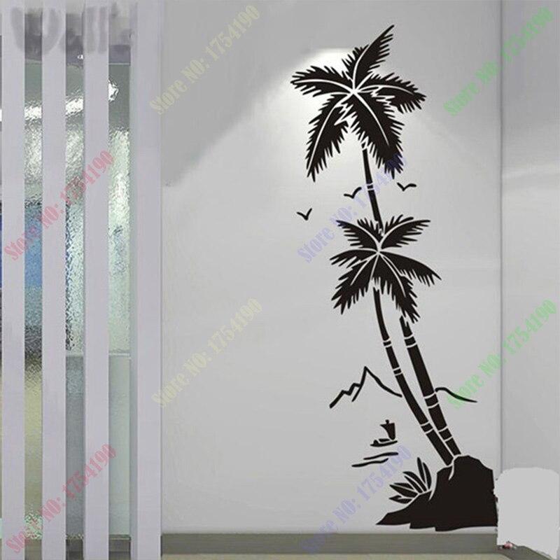 Aliexpresscom  Buy Free Shipping Beach Coconut Trees Waterproof - Vinyl stickers for glass