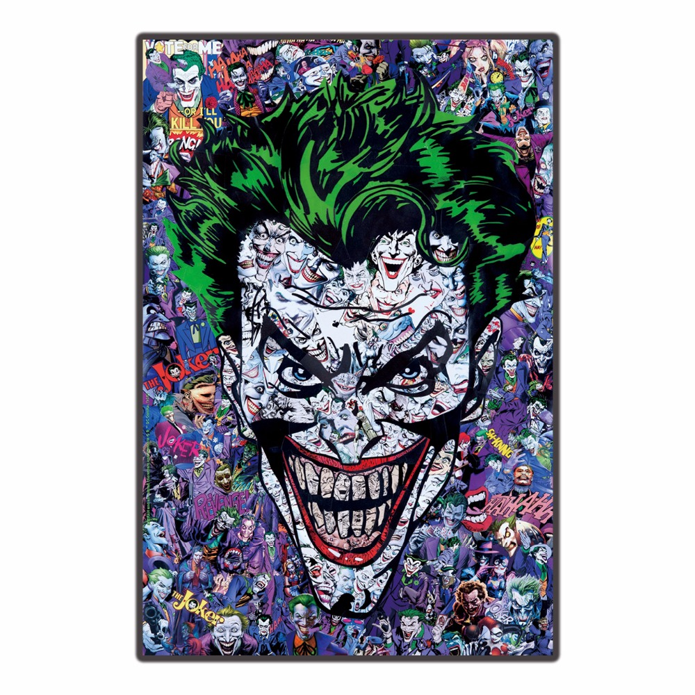 Joker Batman Arkham Origins game Trippy Nice Silk Fabric Print Poster home decration deco 24x36in / gift living room picture image