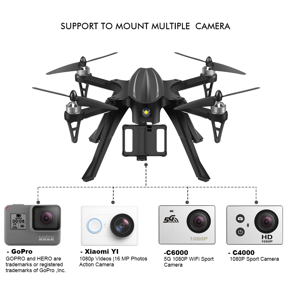 Eachine EX2H Brushless 5.8G FPV With 720P HD Camera Alititude Hold RC Drone