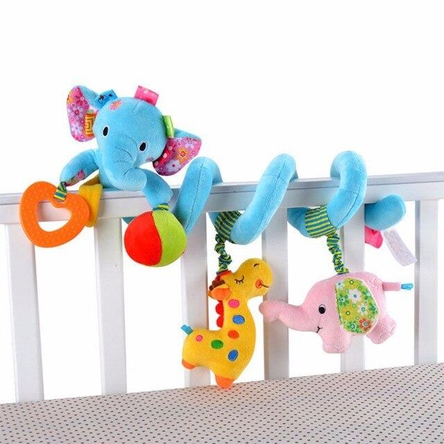 Animal Handbells Developmental Toys Bed Bells Kids Baby Soft Infant Toys Rattle Mobiles strollers for dolls Lovely
