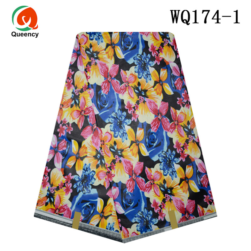 Free shipping-Queecy New Arrivals 100% Cotton African Print Wax Textile for Dresses WQ174-185