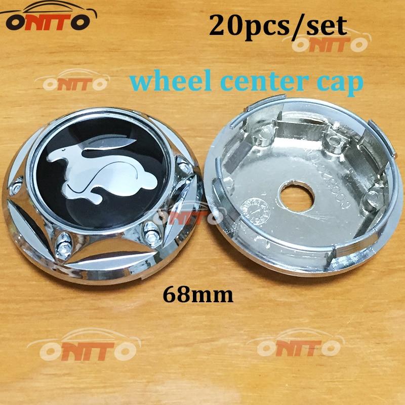 Hot selling 20pcs/set 68mmcar wheel logo emblem Wheel Dust-proof emblem covers for Rabbit car styling