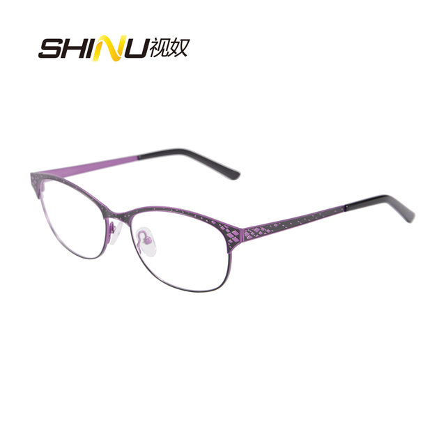 bd00da425f4 metal Glasses Frames Woman Man half rim stainless steel Spectacles double  color plating Eyeglasses Frame with