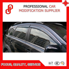 High Quality Injection molding trim vent shade rain sun wind deflector window visor for Captiva window deflector for mitsubishi pajero 4 2007 rain deflector dirt protection car styling decoration accessories molding