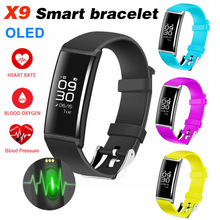 ФОТО  est X9 Smart Bracelet Bluetooth Band Watch With Remote Control Smart Pulse Blood Power Smartband Remind PK mi band 2 S2