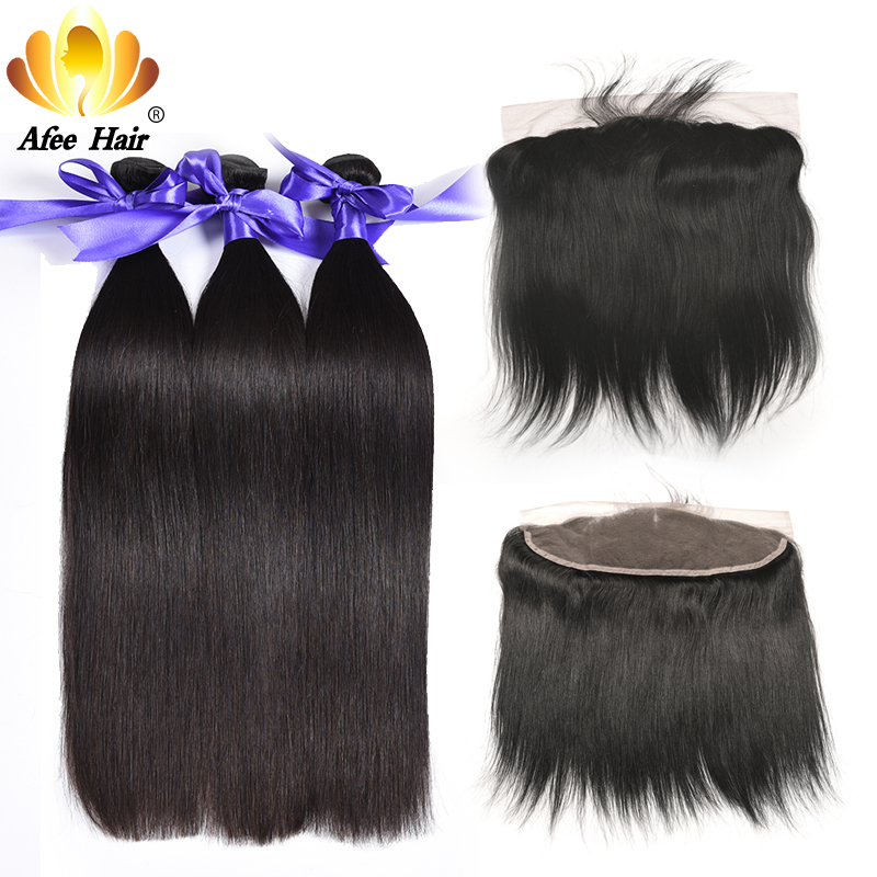 Aliafee 1b 2 4 Color Brazilian Straight Hair Bundles With frontal Baby Brazilian Hair Bundles Weave