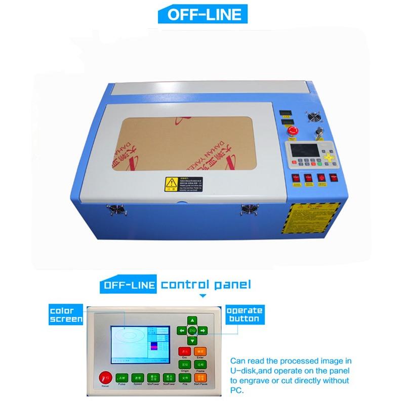 Free Shipping 3040 50W Color Touch Screen Ruida Laser Cutting Machine HF-3040 Co2 50w Automatic Cloth Cutting Machine