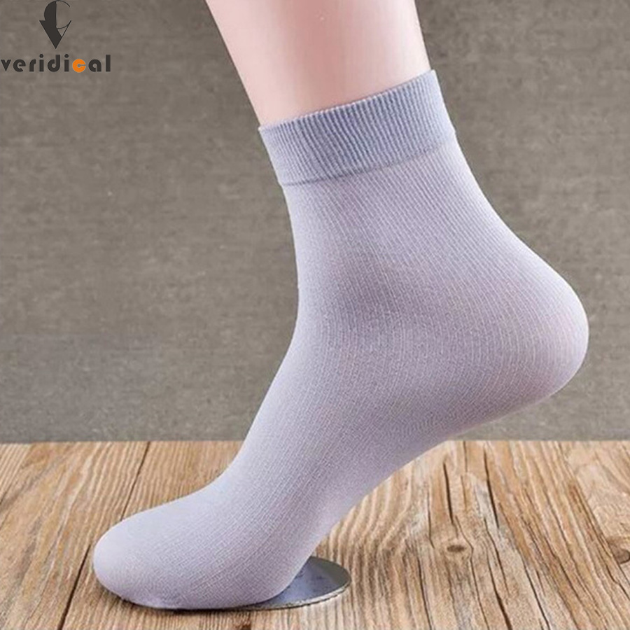 VERIDICAL 20pieces=10pairs=1lot bamboo fiber men socks business spring and summer calcetines formal work Short cool sock EU39-45