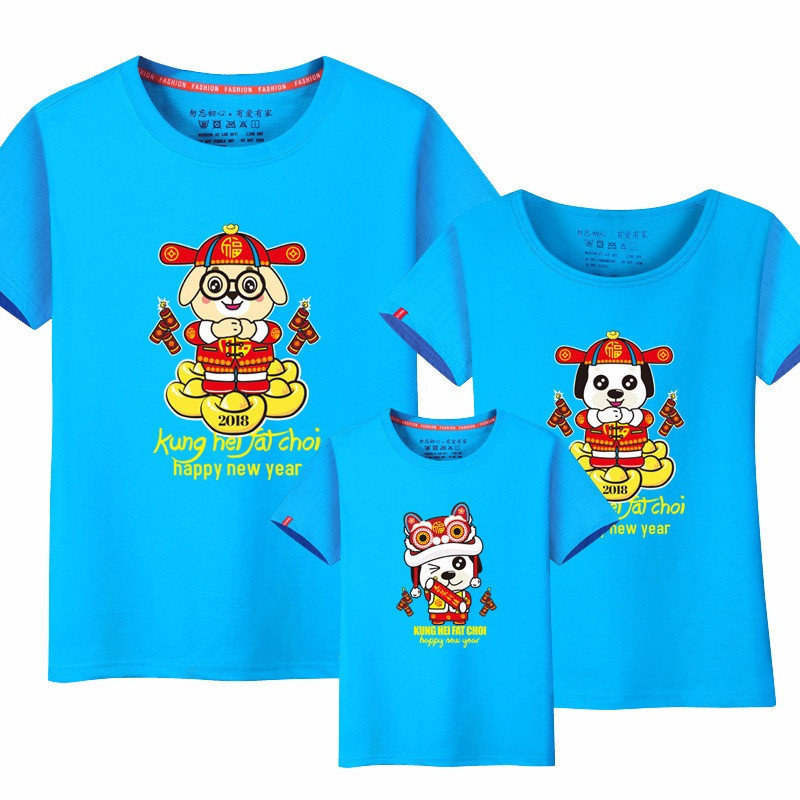 LYTLM Happy Chinese New Year Matching Mother Daughter Clothes Mother Kids Family Look Family Matching Shirt Parent-child Outfit ...