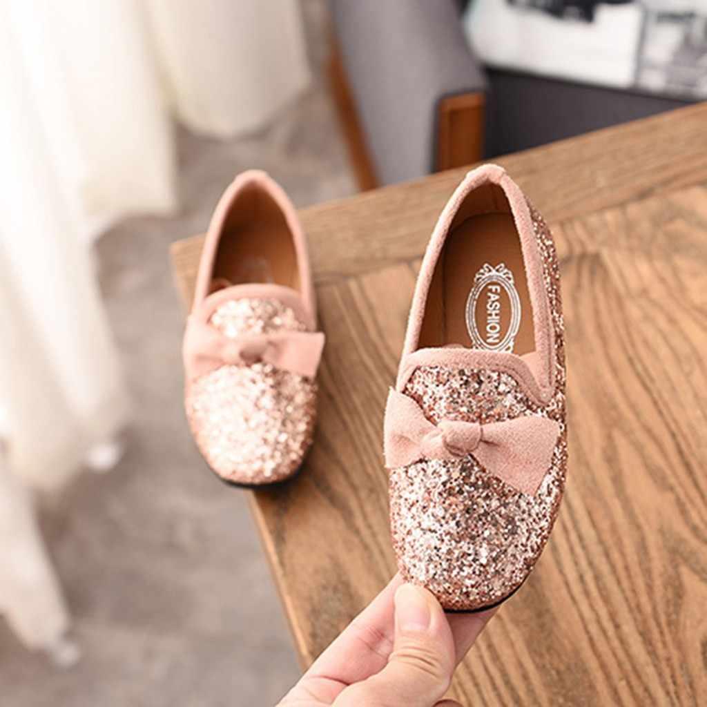รองเท้าเด็กทารกรองเท้าเด็ก Bowknot Bling SINGLE PARTY Dance รองเท้าเด็กวัยหัดเดินงานแต่งงานเด็กรองเท้า