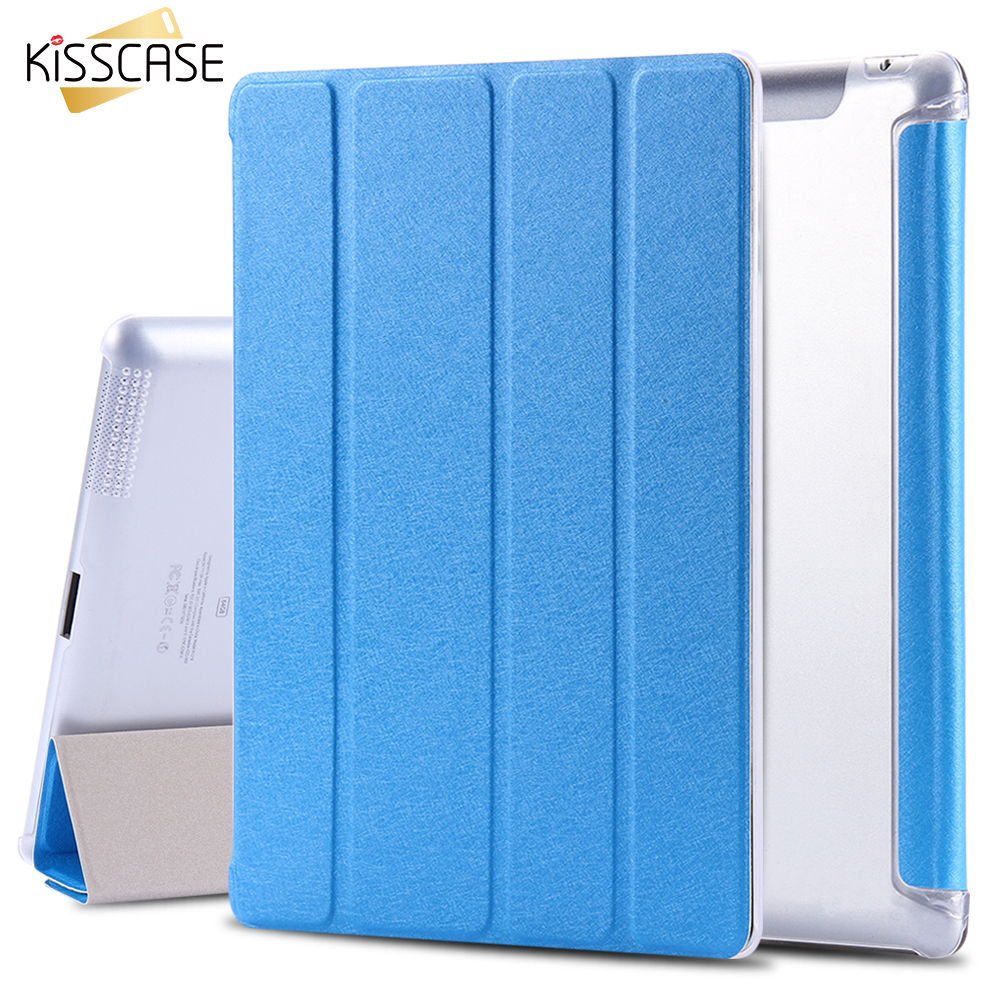 KISSCASE 9.7 Leather Case For ipad 4 3 2 Flip Cover Smooth Touch Silk Smart Cover For iPad4 iPad 3 iPad2 Tablet Stand Case Bags leather case flip cover for letv leeco le 2 le 2 pro black
