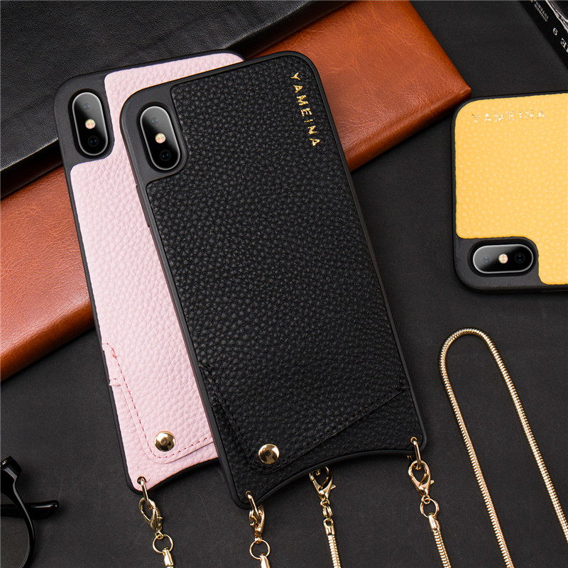HTB1SoTBbdfvK1RjSspoq6zfNpXaW Credit Card Leather Wallet Strap Crossbody Long Chain Phone Case for Iphone 11 pro XR XS Max 6S 8 7 plus luxury Back cover coque