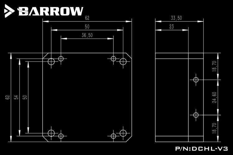 Купить с кэшбэком Barrow DDC Pump Metal Cover DDC Series Accessroies Pump Special Aluminum Alloy Cooling DDC Modified Kit DCHL-V2