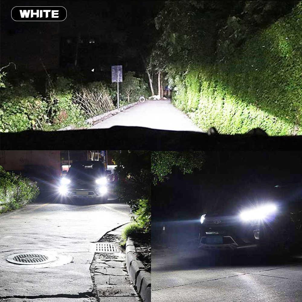 1Pair Led Car Headlights 18000LM H1 H7 white 6000K H11 9012 Led Canbus H8 HB3 9005 HB4 9006 3D 360 degree Auto Fog Lights DRL