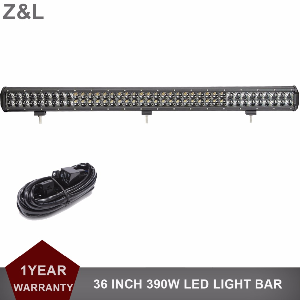 36'' 390W Offroad LED Light Bar Combo 12V 24V ATV Truck 4x4 Trailer Car Tractor 4WD Van Camper Pickup SUV Driving Lamp Headlight 5d cree led bar 32 300w spot flood combo beam drl 12v led light bar offroad 4x4 4wd atv utv tractor trailer 24v van camper rzr