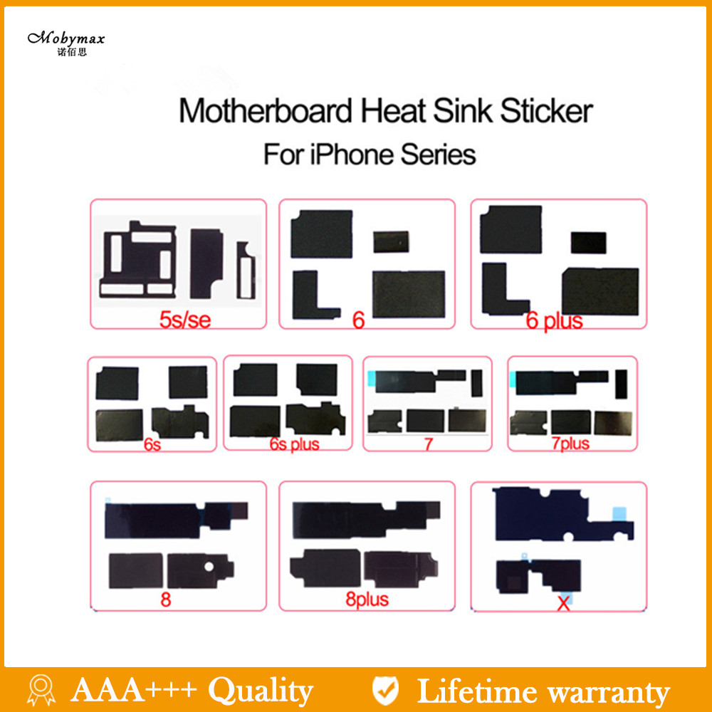 For Iphone 6 6s 6s Plus 7 7P 8 8 Plus X Motherboard Repair Cooling Stickers With Printing Code Motherboard Shield Heat Stickers