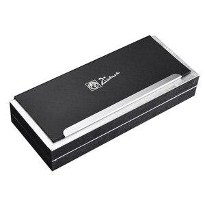 Image 5 - Unikalny srebrny klips z klejnotem Picasso Pimio czarny wieczne pióro wysokiej klasy biznesowy prezent na boże narodzenie 0.5mm pióra atramentowe z pudełkiem