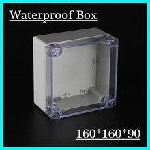 (1 шт./лот) 160*160*90 мм ясно, abs Пластик IP65 Водонепроницаемый корпус ПВХ распределительная коробка электронного проекта готовальни
