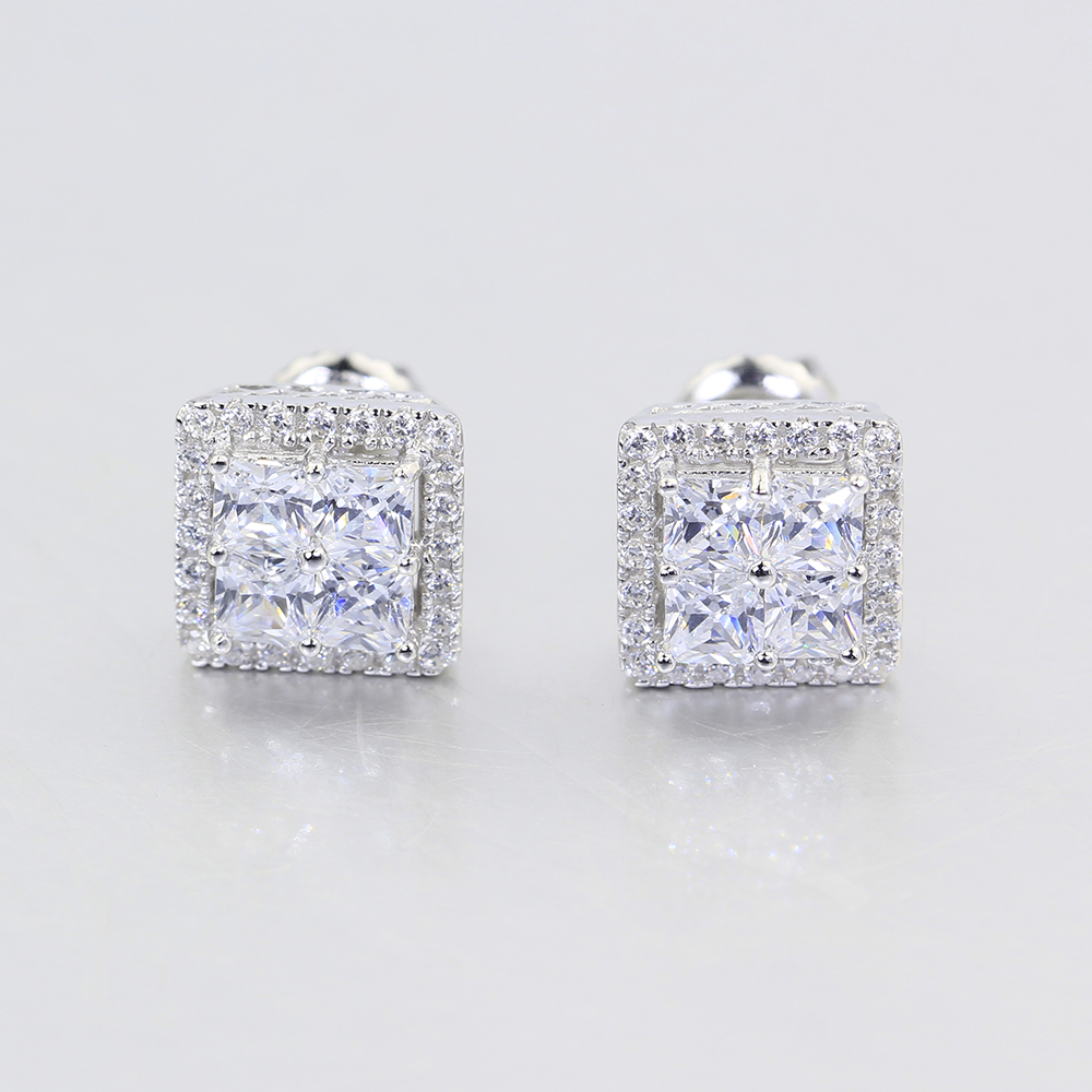 product gold white faceted earrings stud zirconia homecubic in cubic next previous