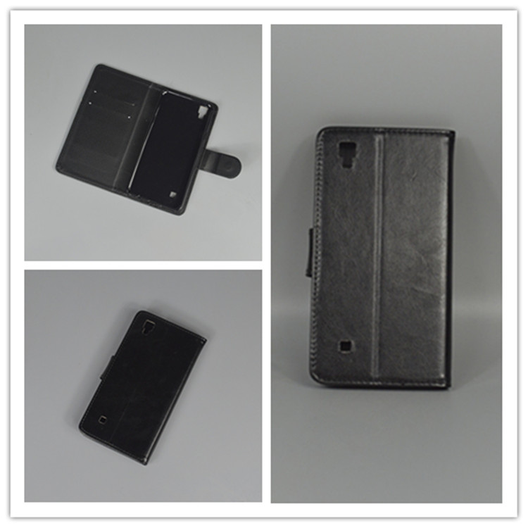 Crystal grain wallet case hold two Cards with 2 Card Holder and pouch slot For LG X Power K210 K220 K220ds
