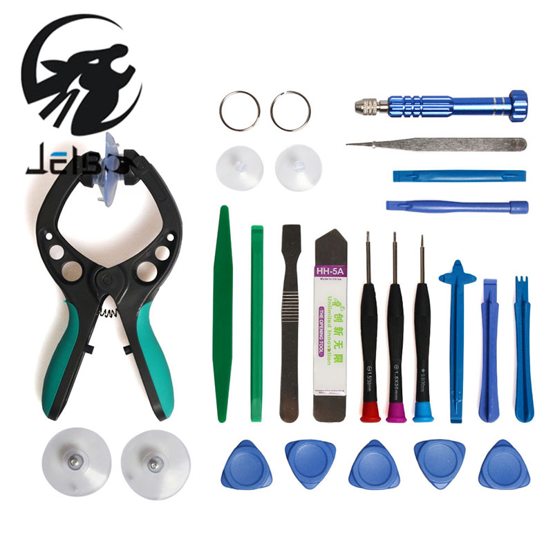 Jelbo 22in1 Professional Mobile Phone Repair Tools LCD Screen Opening Screwdriver Suction Cup Kit Pry Disassembly Set Hand Tools 3pcs set ferramentas smartphone tools metal spudger mobile phone laptop tablet repairing opening tools
