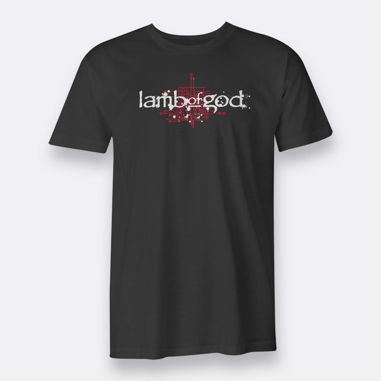Lamb of God Band As The Palaces Burn Size High Quality top tee